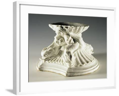 Base Evoking Fountain of Four Rivers by Bernini, 1750-1755--Framed Art Print