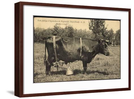 Ecole Pratique D'Agriculture De Wagnonville Douai, Nord, Machine a Traire--Framed Art Print