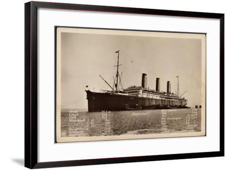 Hapag, Dampfschiff Imperator Mit Techn. Angaben--Framed Art Print