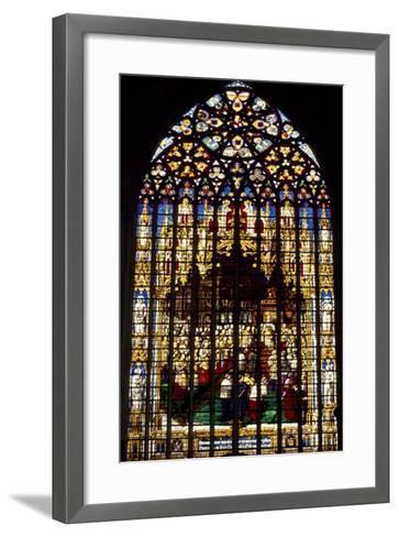 Windows from St Rumbold's Cathedral, Mechelen, Detail, Belgium--Framed Art Print