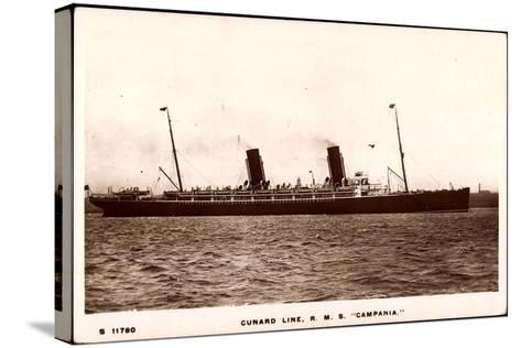 Cunard Line, R.M.S. Campania, Dampfschiff in Fahrt--Stretched Canvas Print