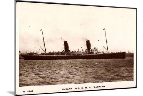 Cunard Line, R.M.S. Campania, Dampfschiff in Fahrt--Mounted Giclee Print