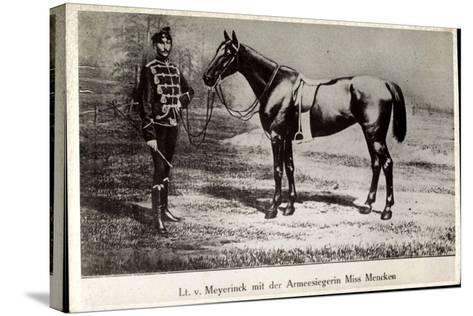 Leutnant Hans Von Meyerinck Mit Pferd Miss Mencken, Geb. 1846, Gest. 1915--Stretched Canvas Print
