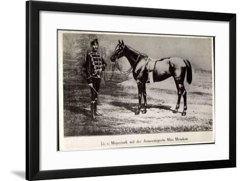 Leutnant Hans Von Meyerinck Mit Pferd Miss Mencken, Geb. 1846, Gest. 1915--Framed Art Print