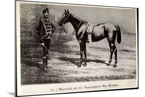Leutnant Hans Von Meyerinck Mit Pferd Miss Mencken, Geb. 1846, Gest. 1915--Mounted Giclee Print