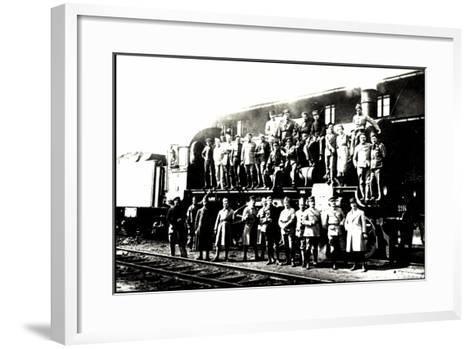 Foto Deutsche Dampflok, Besatzung Vor P8--Framed Art Print