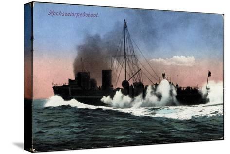Kriegschiffe, Hochseetorpedoboot Auf See--Stretched Canvas Print