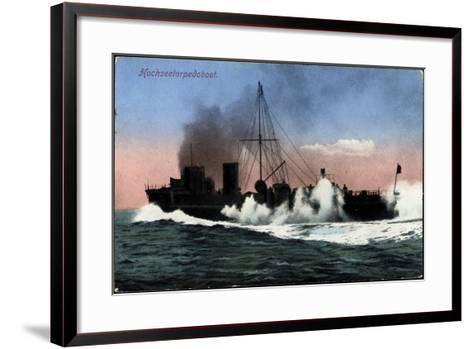 Kriegschiffe, Hochseetorpedoboot Auf See--Framed Art Print