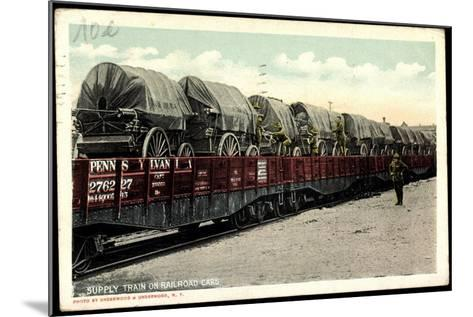 Supply Train on Railroad Cars, Pennsylvania--Mounted Giclee Print
