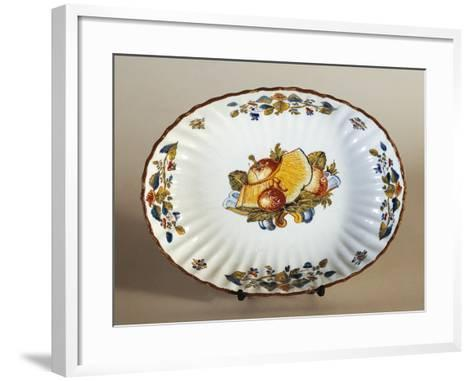 Plate Decorated with Baroque Fruit, Ceramic--Framed Art Print