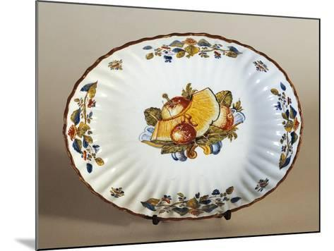Plate Decorated with Baroque Fruit, Ceramic--Mounted Giclee Print