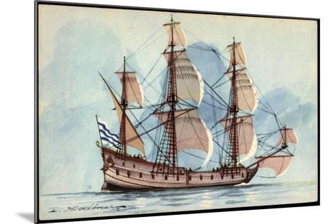 Künstler Haffner, L., Segelschiff, Flûte, 3 Master--Mounted Giclee Print
