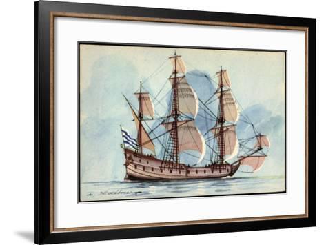 Künstler Haffner, L., Segelschiff, Flûte, 3 Master--Framed Art Print