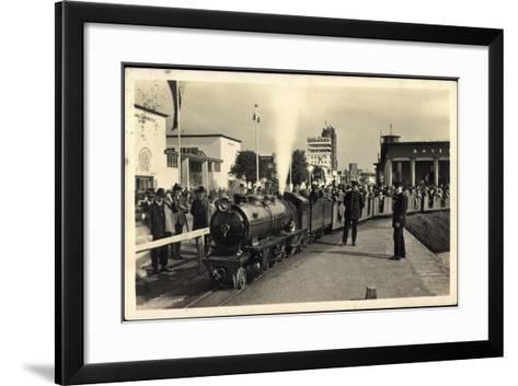 Düsseldorf, Große Ausstellung 1926, Liliput Dampflok--Framed Art Print