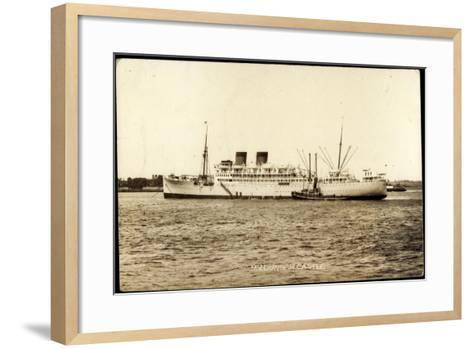Union Castle Line, UC, M.V. Dunbar Castle, Dampfer--Framed Art Print
