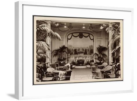 Hapag, Dampfer Imperator, Wintergarten I. Kl--Framed Art Print
