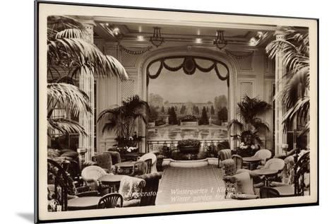 Hapag, Dampfer Imperator, Wintergarten I. Kl--Mounted Giclee Print