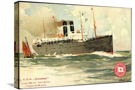 K?nstler T.S.S. Kroonland, Red Star Line--Stretched Canvas Print