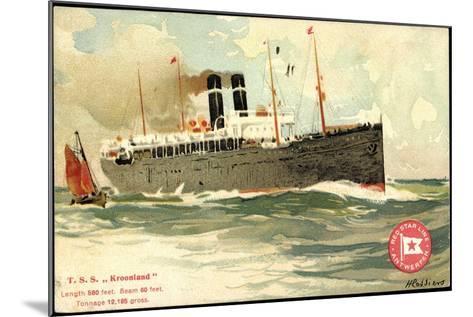 K?nstler T.S.S. Kroonland, Red Star Line--Mounted Giclee Print