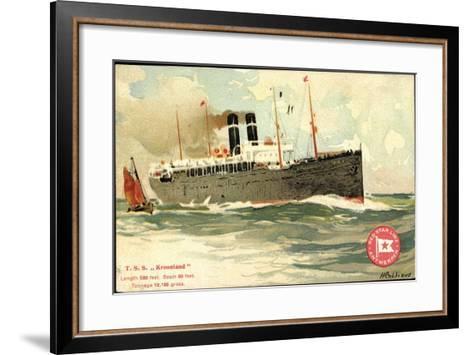 K?nstler T.S.S. Kroonland, Red Star Line--Framed Art Print