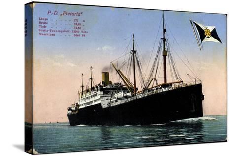 P.D. Pretoria, Hapag, Dampfschiff, Fahne--Stretched Canvas Print