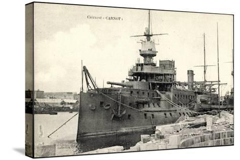 Französisches Kriegsschiff Carnot, Cuirassé--Stretched Canvas Print