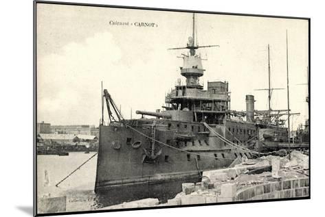Französisches Kriegsschiff Carnot, Cuirassé--Mounted Giclee Print