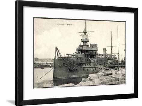 Französisches Kriegsschiff Carnot, Cuirassé--Framed Art Print