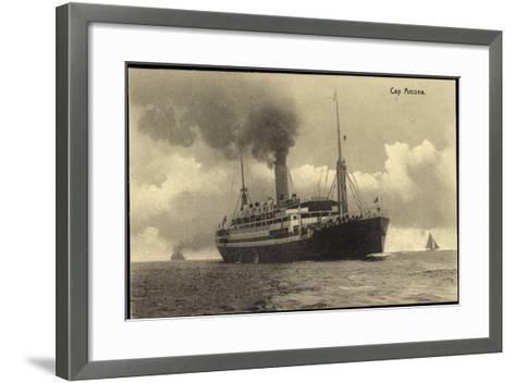 HSDG, Dampfschiff Cap Arcona in Fahrt, Segelboote--Framed Art Print