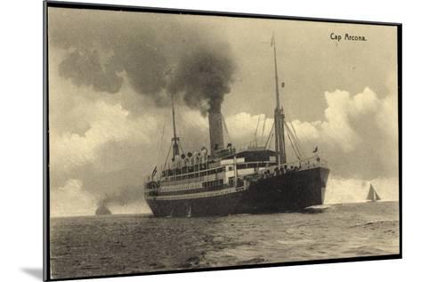 HSDG, Dampfschiff Cap Arcona in Fahrt, Segelboote--Mounted Giclee Print