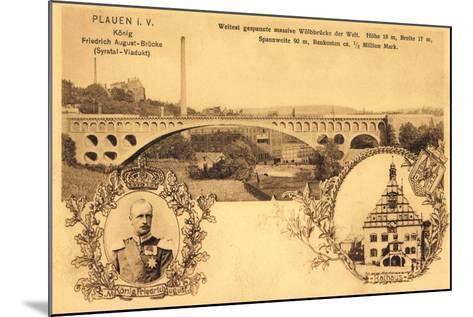 Plauen Vogtland, Friedrich August Br?cke, Rathaus--Mounted Giclee Print