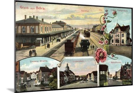 Bebra, Bahnhof Mit Eisenbahn, Postamt, Lindenplatz--Mounted Giclee Print