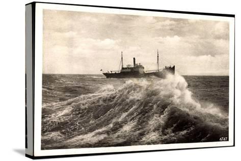 Rügenwalde Pommern, Schiff Auf Hoher See, Welle--Stretched Canvas Print