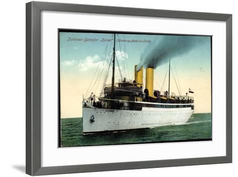 Hapag, Turbinen Dampfschiff Kaiser in Fahrt--Framed Art Print