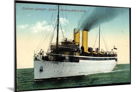 Hapag, Turbinen Dampfschiff Kaiser in Fahrt--Mounted Giclee Print
