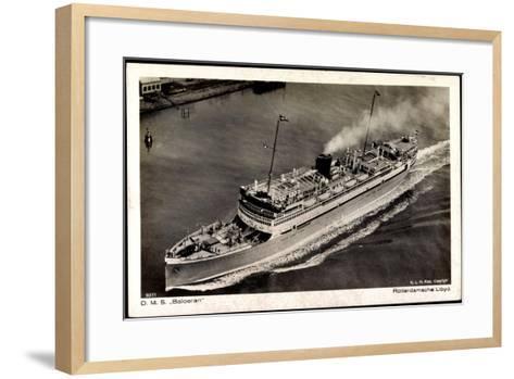 Dampfer D.M.S. Baloeran, Rotterdamsche Lloyd--Framed Art Print