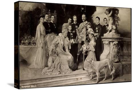 Künstler Rph, Kaiserliche Familie Unter Wilhelm Ii, Auguste Viktoria,Windhund--Stretched Canvas Print