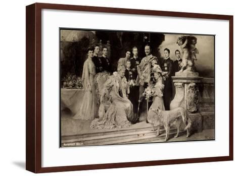 Künstler Rph, Kaiserliche Familie Unter Wilhelm Ii, Auguste Viktoria,Windhund--Framed Art Print
