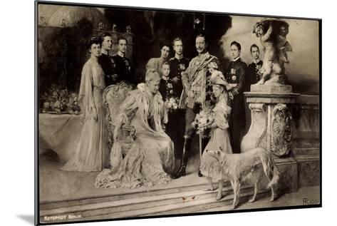 Künstler Rph, Kaiserliche Familie Unter Wilhelm Ii, Auguste Viktoria,Windhund--Mounted Giclee Print