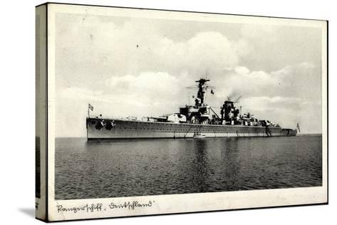 Kriegsschiffe Deutschland, Panzerschiff Deutschland--Stretched Canvas Print
