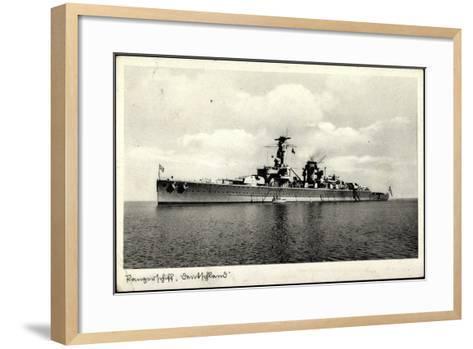 Kriegsschiffe Deutschland, Panzerschiff Deutschland--Framed Art Print