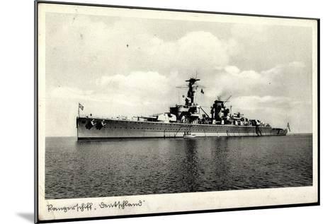 Kriegsschiffe Deutschland, Panzerschiff Deutschland--Mounted Giclee Print