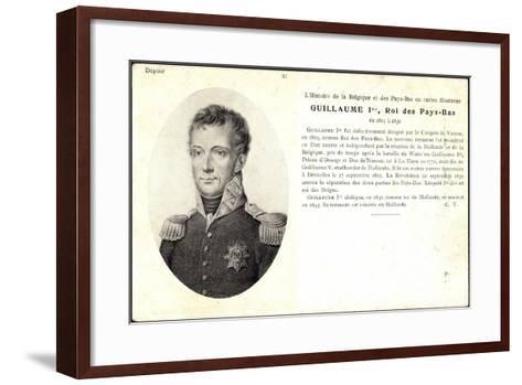 K?nstler Guillaume I, Roi, Pay Bas,Adel Niederlande--Framed Art Print