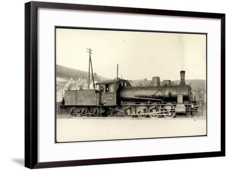 Foto Deutsche Güterlok Nr. 55 663 Preußen, Tender--Framed Art Print