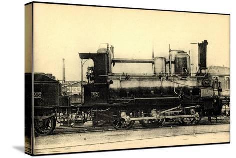 Eisenbahnen, Frankreich, Dampflok, No 745, Orleans--Stretched Canvas Print
