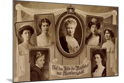 Passepartout Die Prinzessinnen V. Preußen, Npg--Mounted Giclee Print