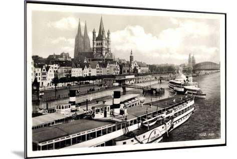 Dampfer Schiller Auf Dem Rhein, Köln, Kirche--Mounted Giclee Print