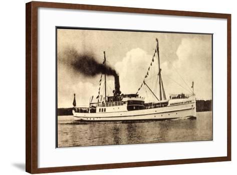 Dampfer Bürgermeister Lafrenz Der Fehmarn Linie--Framed Art Print
