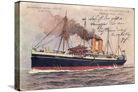 Künstler Russisches Dampfschiff Rossia in Fahrt--Stretched Canvas Print