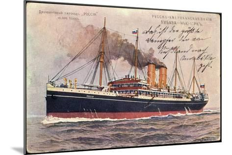 Künstler Russisches Dampfschiff Rossia in Fahrt--Mounted Giclee Print